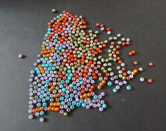 440 round beads 4 mm red green blue orange