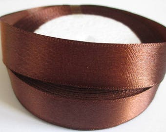 5 m 20mm chocolate colored satin ribbon