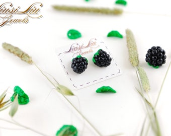 Berry earrings- blackberry earrings