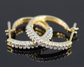 14k 0.39 Ctw Diamond Hoop Earrings Gold