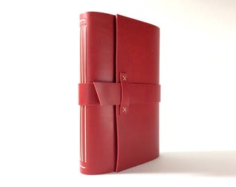 NEW SIZE! Classic Slim Leather Journal (4.25 x 8.25 in). Long-Stitch Leather Bound Book, Leather Notebook, Leather Sketchbook