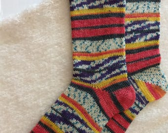 Wool socks,  Hand Cranked Wool Socks, Hand Made Wool Socks, Knit Wool Socks, Women's Socks, Teen Socks, Boy's  Wool Men's Socks