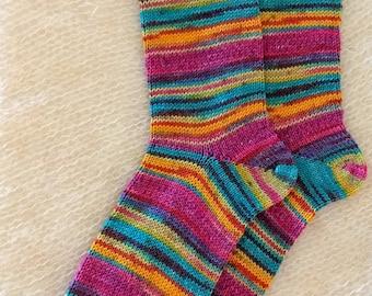 Wool socks,  Hand Cranked Wool Socks, Hand Made Wool Socks, Knit Wool Socks, Women's Socks, Teen Socks, Boy's Wool Men's Socks Women's 10-11