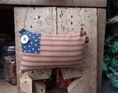 Primitive American Flag, Hanging Flag, Shelf Ornie, Red White & Blue, Patriotic Decor, Americana, Door Hanger, Primitive Flag, 4th of July