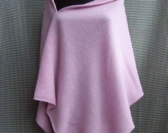 knit glitter sparkly bluish pink poncho wrap spring autumn wedding evening any good reason wear