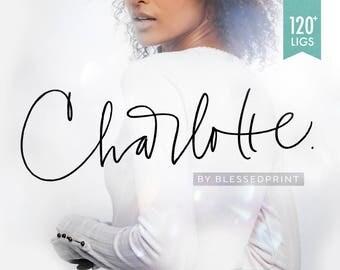 Charlotte Font Script with 120 Ligatures