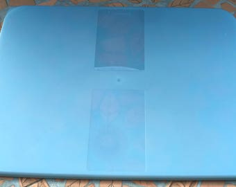 Vintage Tupperware Freezer Mates Blue Lid Replacement Cover Rectangular 11 7/8 x 8 7/8 ""