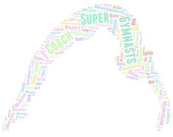 Personalised Word Art / Word Cloud - Gymnast - Digital JPEG