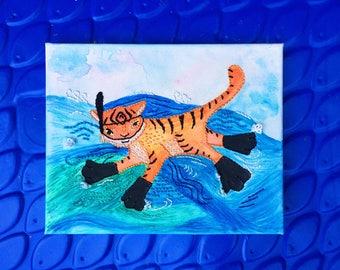 Snorkeling Tiger!
