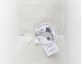 Blanket 100% cotton Coco ecru