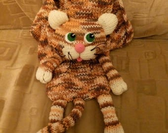 Tabby cat scarf funny Cat scarf soft animal scarf knit scarf calico cat tiger cat scarf kitty scarf, wool scarf wool cat shorthaired cat