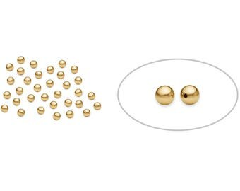 100 Pieces 2 mm 14K Gold Filled Round Beads (GF520102) Seamless
