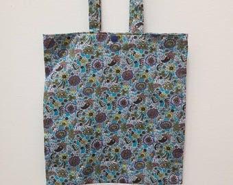 flower pattern library bag