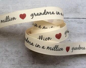 Grandma Ribbon Red Heart