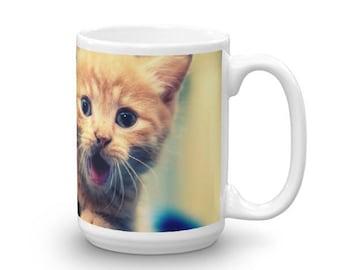 Surprised Kitten Mug made in the USA