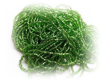 1 Hank Size 11/0 SILVER LINED CHARTREUSE Preciosa Czech Glass Seed Beads -  Approx. 3905 beads