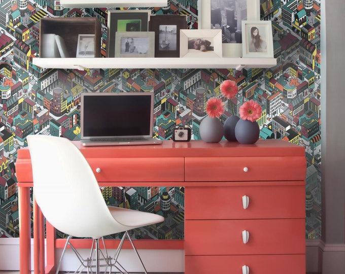 City Blocks wallpapers - Neighborhoods Wallpapers - Cartography wallpapers Abstract City - Abstract City Wallpaper
