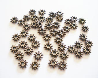 50 bead spacer antique copper spacers 8.5 x 3 mm