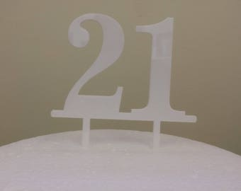 Number Acrylic Cake Toppers.