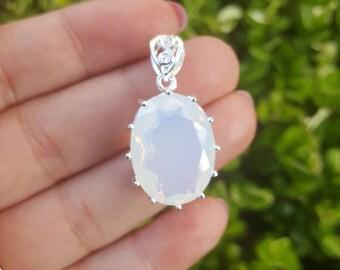 Sterling Silver Opalite Pendant, Opalite Stone