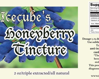Icecube's Triple-Extracted Honeyberry Tincture -- 2 oz. bottle