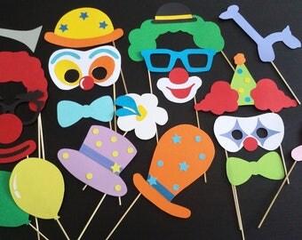 "Accessories photobooth x 20 ""clown, circus"""