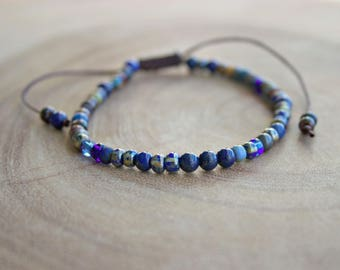 Men's Beaded Bracelet / Small Beads Bracelet