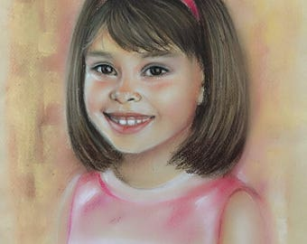 Custom Portrait, Custom Kids Portrait, Custom Drawing, Commission Portrait, Christmas Gift Personalized, Pastel Portrait From Photo