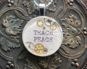 Teach Peace Necklace
