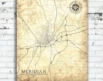 Mississippi Poster Etsy - Mississippi city map