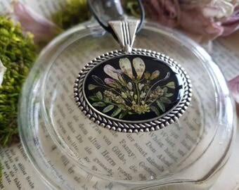 Real Flowers botanical flower necklace necklace nostalgia flower bouquet wild flowers
