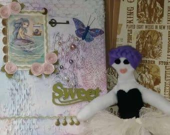 Sherry Ann, Doll, Felted dolls, heirloom dolls, Rag Doll