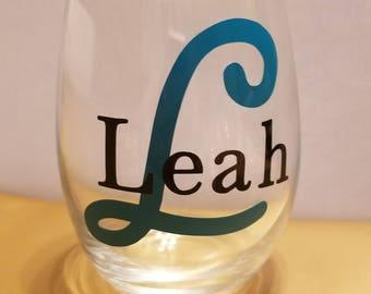 Stemless Wine Glass - Custom Names