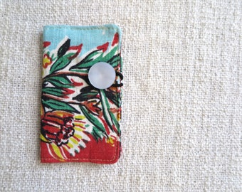 Card wallet, Credit card wallet, Loyalty card wallet, Repurposed fabric wallet, Floral wallet, Floral card wallet,Handmade card wallet
