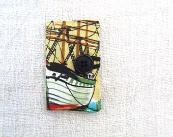 Retro card wallet, Credit card wallet, Card wallet, Loyalty card wallet, Melbourne souvenir wallet, Repurposed tea towel wallet