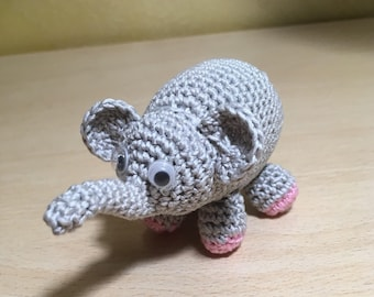 Keychain Elephant gray Good luck charm as a gift for any occasion