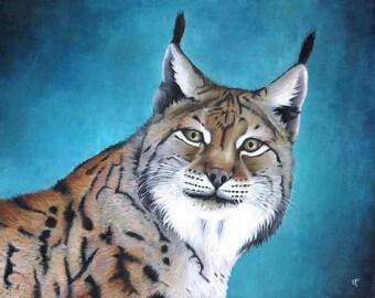 Peinture originale : Lynx boréal