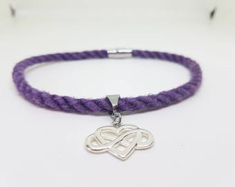 Bdsm collar discreet, lilac,  polyamory necklace, submissive jewellery, day collar
