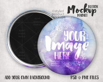 Magnet Button Mockup Template with Front and Back view | Photoshop Mockup | Button Mockup | Button Template