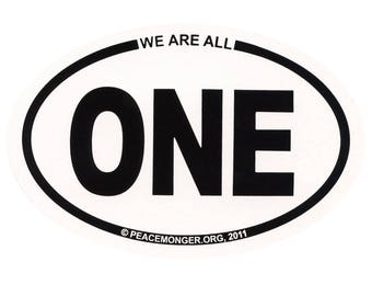 OS003 - We are all ONE Oval ID Sticker or Magnet
