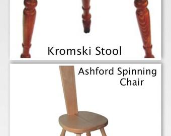Kromski & Ashford Spinning Stool Chair You Choose Finish SUPER FAST Shipping!