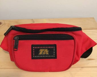 90s Fanny Pack Vintage Fanny Pack Red Bum Bag Waist Wallet 90s Clothing