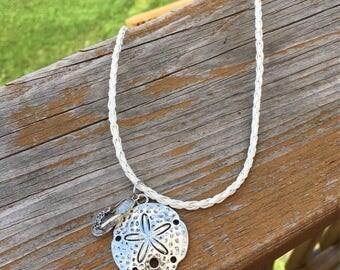 Starfish and flip flop pendant