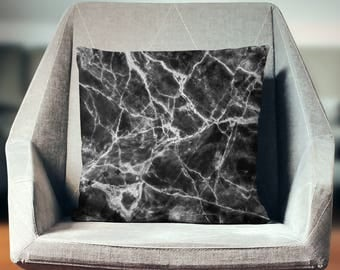 Marble Throw Pillow | Marble Pillow Cover | Marble Pillow | Marble Cushion | Marble Decor | Black Marble Decor | Marble Home Decor |