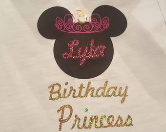 Minnie Birthday Princess Tee