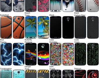 Choose Any 2 Designs - Vinyl Skins / Decals / Stickers for Samsung Galaxy S4 Android Smartphone