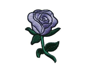 Purple Rose DIY Applique Iron on Patch