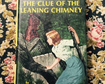 Nancy Drew Clue Of The Leaning Chimney by Carolyn Keene 1967 Printing