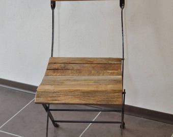 Wrought iron folding chair