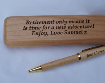 Personalised Wooden pen case and pen, wooden pen case, wooden pen, personalised pen, personalised pen box,folding pen case
